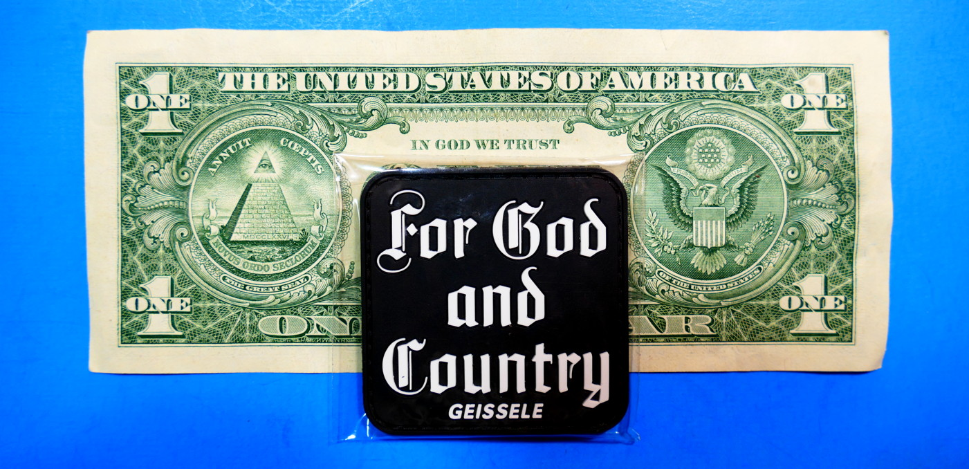 FREE SHIPPING For God and Country Patch ~ 2019 SHOT Show ~ TACTICAL Geissele
